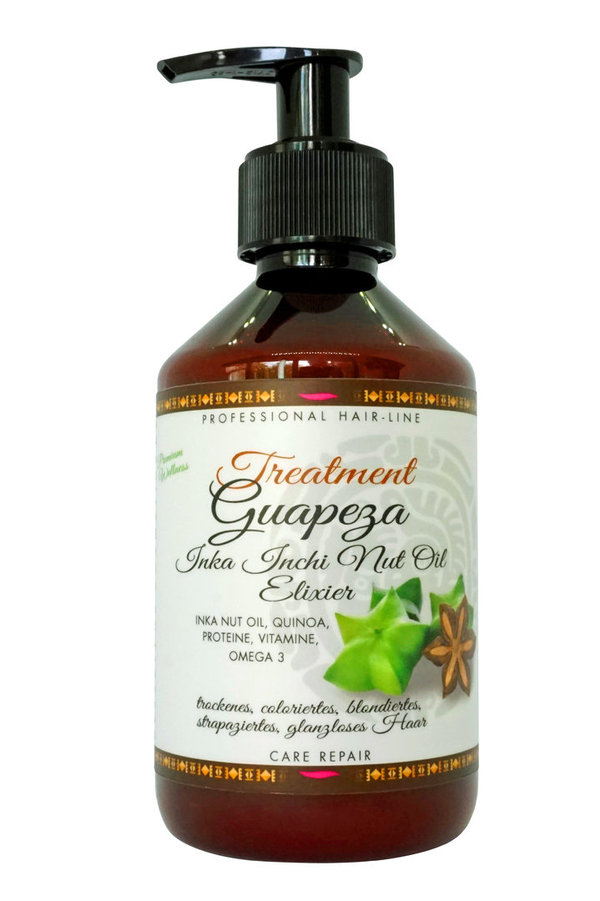 "Guapeza Inka Inchi Nut-Oil Treatment  ""Premium-Hair-Superfood""   250 ml"